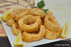Squid Recipes, Tilapia Recipes, Tempura, Finger Food Appetizers, Finger Foods, Crawfish Recipes, Mouth Watering Food, Food Decoration, Spanish Food