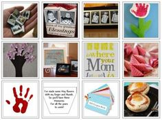 Sweet ideas for Mother's Day gifts, crafts, etc.