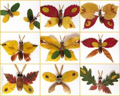 You will love these fall leaf crafts for preschoolers. Creative and easy, kids can make these 14 art projects using dried autumn leaves. Autumn Leaves Craft, Autumn Crafts, Fall Crafts For Kids, Paper Crafts For Kids, Autumn Art, Nature Crafts, Art For Kids, Leaf Crafts Kids, Art Crafts