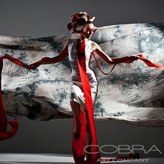 RED MASK Fashion and faces photography Photographic art on plexiglass Cobra Art Company