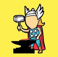 Thor as metal-factory worker? Superheroes get part-time jobs via @CNET