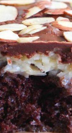 Almond Joy Poke Cake