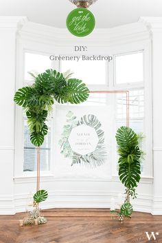 Clever frameworks are soaring in popularity and can be used to highlight your ceremony site, welcome area, sweetheart table or photo booth. On a budget, you can re-use this backdrop in multiple locations. Check out our simple DIY instructions on how to create your own lush greenery backdrop.
