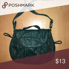 teal crossbody bag small teal crossbody bag with zipper pockets on the sides and a magnetic closing. has a long adjustable crossbody strap & a handheld strap Bags Crossbody Bags