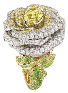 Dior fine jewelry yellow sapphires and diamonds.