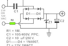 voltage stabilized transformerless power supply circuit electronic rh pinterest com
