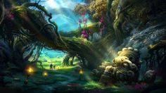 Mystical forest wallpaper