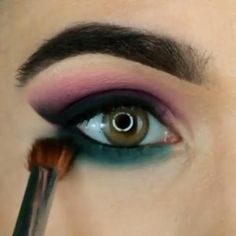 Smoke Eye Makeup, Asian Eye Makeup, Makeup Eye Looks, Eye Makeup Steps, Natural Eye Makeup, Blue Eye Makeup, Eyeshadow Makeup, Makeup Tips, Makeup Goals