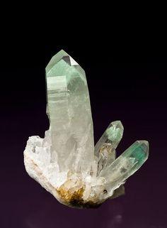 Quartz with Fuchsite; Iovitra Mine, Madagascar