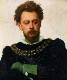 "Actor Alexander Lensky Pavlovich as Petruchio inShakespeare's ""Taming of the Shrew "", 1883, Ivan Kramskoi Medium: oil, canvas"