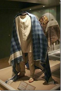 Reproduction of the Thorsberg costume presently on exhibit at the National Museum of Denmark.
