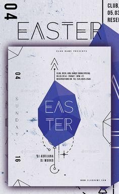 Easter Poster V — Photoshop PSD #celebration #creative easter • Download ➝ https://graphicriver.net/item/easter-poster-v/19399810?ref=pxcr