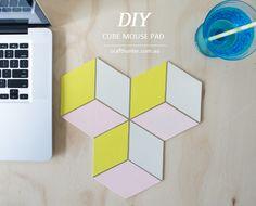 DIY: cube mouse pad