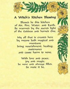 A Witch's Kitchen Blessing