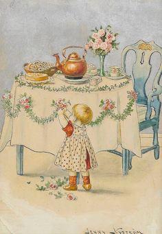 Album Jenny Nyström. Vintage Postcards