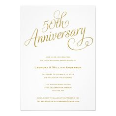 Wording for 50th Wedding Anniversary Invitations The Wedding
