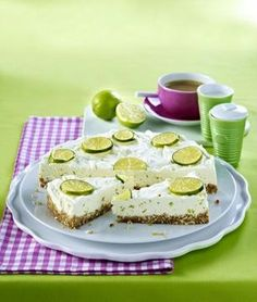 Kuchen ohne Backen - Limetten-Cheesecake