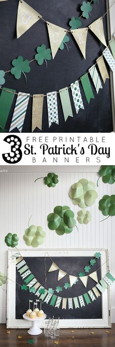 Add pizazz to your St. Patrick's Day with these 3 free printable banners!