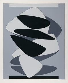Artist: Victor Vasarely, Hungarian (1908 - 1997) Title: Kervilahuen Medium: Serigraph Image Size: 24 x 19.5 inches Size: 27.5 in. x 22 in. (69.85 cm x 55.88 cm)