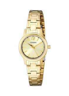 Citizen Women's EL3032-53P Analog Display Japanese Quartz Gold Watch ** You can find more details by visiting the image link.