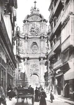 calle Zaragoza (actual plaza de la Reina) 1910 / Valencia / vintage / cities / photography
