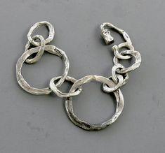 Sterling Silver Bracelet John Lewis Modernist Circles by jujubee1