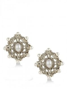 FOREVER NEW Pearl Embellished Earrings available on koovs