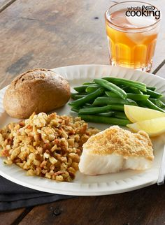 Easy Parmesan-Crusted Fish Dinner #recipe