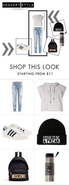 """""""concert style"""" by mawaddah-khairunnisa on Polyvore featuring Dsquared2, adidas, adidas Originals and Moschino"""