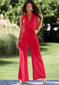 Halter palazzo jumpsuit from VENUS women's swimwear and sexy clothing. Order Halter palazzo jumpsuit for women from the online catalog or Red Jumpsuit, Palazzo Jumpsuit, Halter Jumpsuit, Ankara Jumpsuit, Embellished Jumpsuit, Jumpsuit Style, Jumpsuit Dressy, Striped Jumpsuit, Printed Jumpsuit