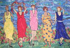 Deanne Fitzpatrick Rug Hooking  Coastal Girls