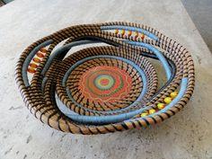 Pineneedle basket - Grenadine Sunrise