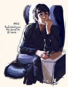 Nice painting! Les Beatles, Beatles Art, Paul Mccartney, Music Genius, The White Album, Cartoon Kunst, Sir Paul, Love Band, Beastie Boys