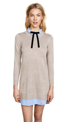 online shopping for English Factory Women's Combo Shirtdress from top store. See new offer for English Factory Women's Combo Shirtdress China Mode, Cocktail Gowns, Calvin Klein Women, China Fashion, Long Tops, S Models, Fasion, Tunic Tops, Shirtdress