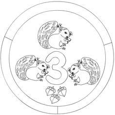 number 3 mandala coloring