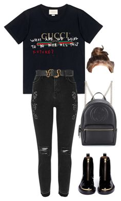 """""""Sans titre #1754"""" by frenchystyle ❤ liked on Polyvore featuring Gucci, River Island and Marni"""