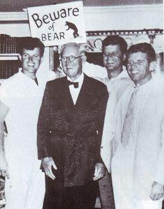 Joseph Kennedy with his three sons, Teddy, Jack, & Bobby