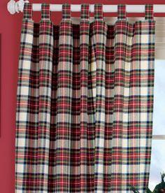 Classic Tartan Tab Top Curtains Dress Stewart