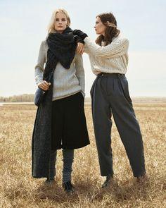 "Irene Hiemstra and Drake Burnette in ""Sweater Weather"" byScott TrindleforW Magazine,August 2014"
