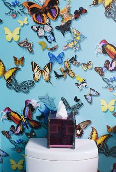 Butterflies (like the Christian Lacroix turquoise butterfly wallpaper shown herein a SoHo apartment designed by Sasha Bikoff) are a buoyant, happy home design trend for 2017. There's no better way to add whimsy and grace to your home in the new year.