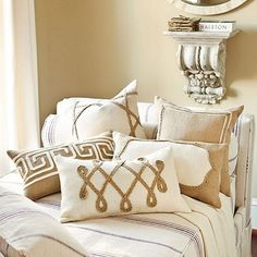 Here's 15 different ideas on decorating with Burlap. Sorry there are no tutorials, but I thought the posts may give fodder to your creative juices! Think I may have to try some of these pillows.