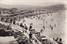 Praia de Sta. Cristina. Años 60. Oleiros. (A Coruña). Galicia. Spain. Santa Cristina, Old Pictures, Paris Skyline, Dolores Park, Travel, Antiques, Anos 60, City, The Beach
