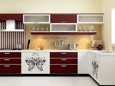 Elegant Kitchen Cabinets With a Beautiful Simplicity Top Inspirations Modern Kitchen Cabinets Beautiful Cabinets Elegant Inspirations Kitchen simplicity Top Kitchen Cabinet Interior, Redo Kitchen Cabinets, Kitchen Cupboard Designs, Kitchen Room Design, Kitchen Cabinet Colors, Modern Kitchen Design, Kitchen Layout, Home Decor Kitchen, Interior Design Kitchen