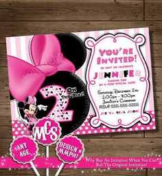 MINNIE MOUSE INVITATION Minnie Mouse by MyCelebrationShoppe
