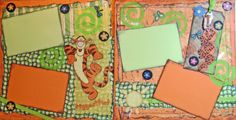 Scrapbook Premade Pages Disney TIGGER Layout by kitsnbitscraps, $26.99