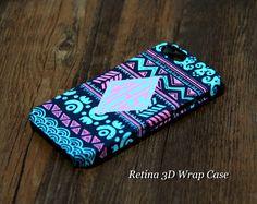 #acycshop Native Tribal Monogram iPhone 5S/5C/5/4S/4 3D Wrap Case