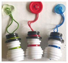 Handmade Snowman Button Ornaments | Etsy Christmas Button Crafts, Christmas Buttons, Christmas Ornament Crafts, Xmas Crafts, Diy Christmas Gifts, Christmas Art, Snowman Ornaments, Holiday Ornaments, Dough Ornaments