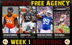 First week of 2015 Free Agency yielded 4 new defensive players for the Redskins | Image www.thehogs.net