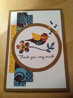 """Thank you very much. Hand made cards by """"Krysp"""" Paper Creations."""