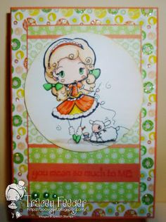 Lolita with Lamb by Star for Spesch Designer Stamps. Tracey Feeger: Spesch stamps